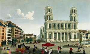 Henri Courvoisier Voisin - View Of The Church Of Saint-su..