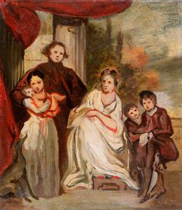 James Northcote - Portrait Of A Gentleman, His Wife And Children