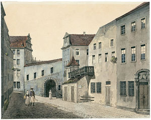 Joachim Faber - Couple On A Walk In A Altstadt..