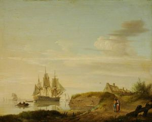 Hermanus Koekkoek (The Elder) - Seascape