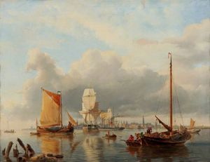 Hermanus Koekkoek (The Elder) - View On The Scheldt