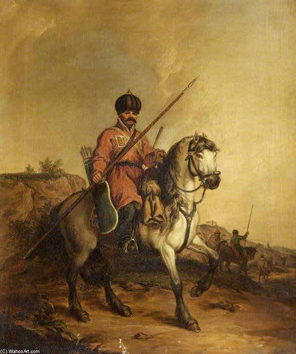 A Tartar On A Horse by John Augustus Atkinson (1775-1833, United Kingdom)