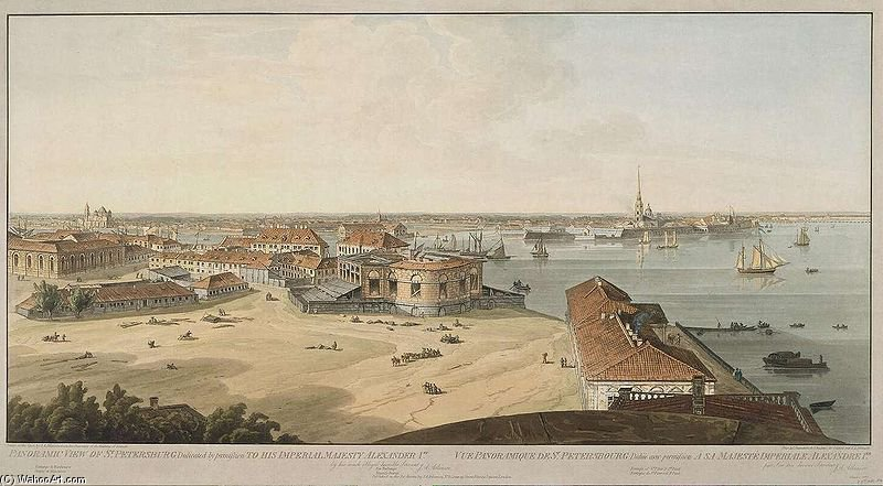 Spb Panoramic View On Spit Of The Vasilievsky Island by John Augustus Atkinson (1775-1833, United Kingdom)