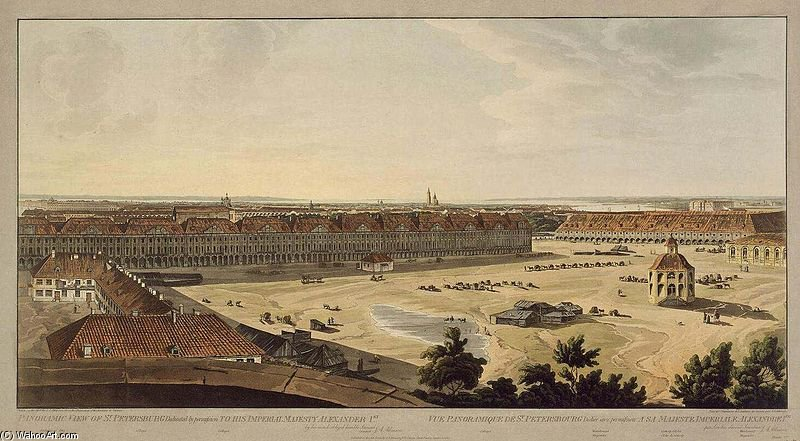 Spb Panoramic View On Twelve Colleges by John Augustus Atkinson (1775-1833, United Kingdom)