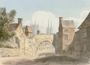 John Buckler - North Side Of The Roman Gate At Lincoln