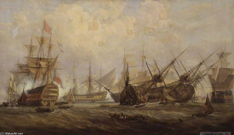 Loss Of The 'royal George' by John Christian Schetky (1778-1874, United Kingdom)