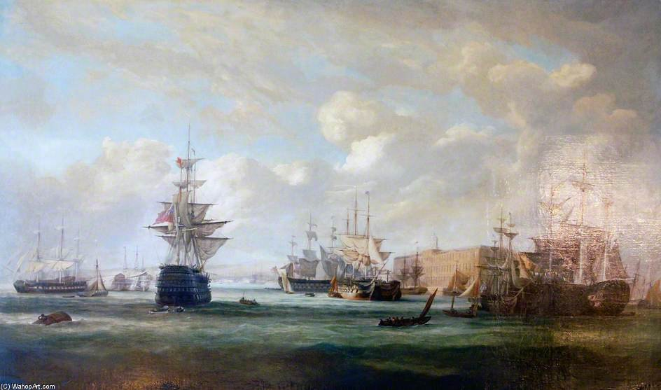 Portsmouth Harbour by John Christian Schetky (1778-1874, United Kingdom)