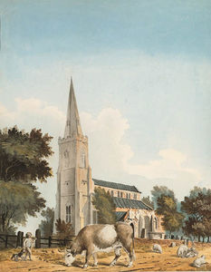 John Claude Nattes - The Church Of Sutton St. ..