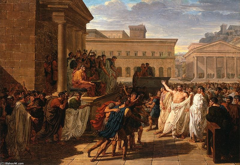 Brutus Listening To The Ambassadors From The Tarquins by Louis Lafitte (1770-1828, France)