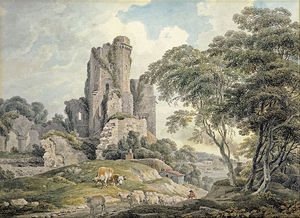 Michael Angelo Rooker - A View Of A Ruined Castle