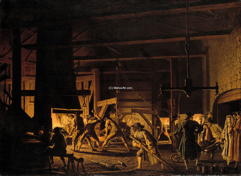 In The Anchor-forge At Söderfors by Pehr Hillestrom (1732-1816, Sweden)