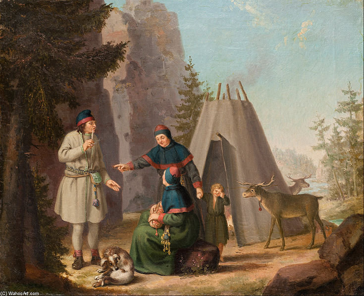 The Costumes Of The Lapponians by Pehr Hillestrom (1732-1816, Sweden)