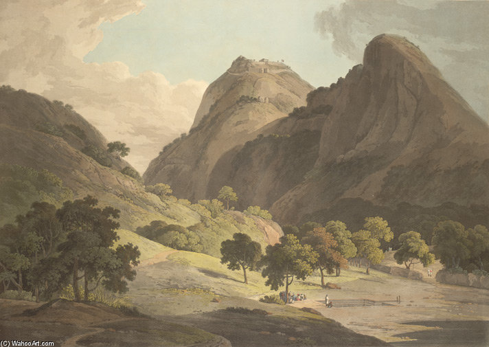 Jag Deo And Warrangur, Hill Forts In The Barramah'l by Thomas And William Daniell (1769-1837, United Kingdom)