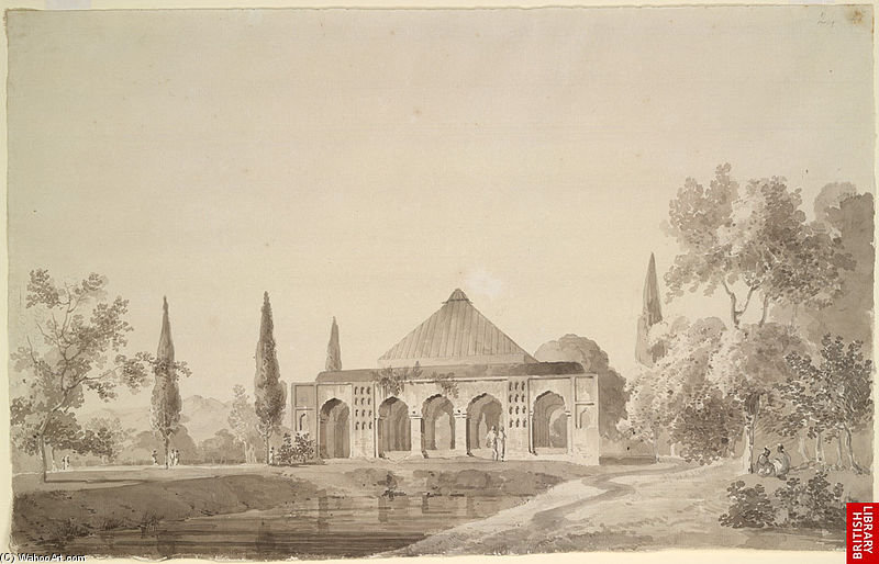 Jahangir Khan's Garden, Najibabad by Thomas And William Daniell (1769-1837, United Kingdom)