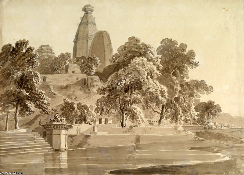 Madan Mohan Temple, On The Yamuna, Vrindavan by Thomas And William Daniell (1769-1837, United Kingdom)