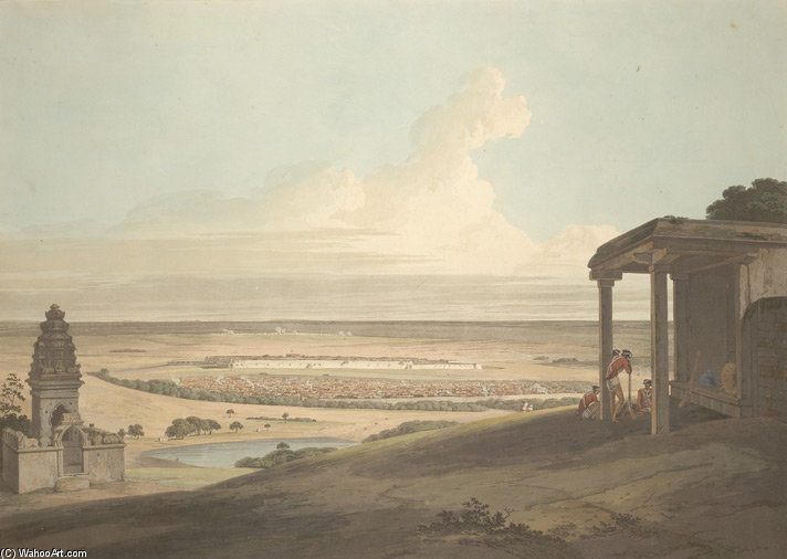 Ousoor In The Mysore by Thomas And William Daniell (1769-1837, United Kingdom)