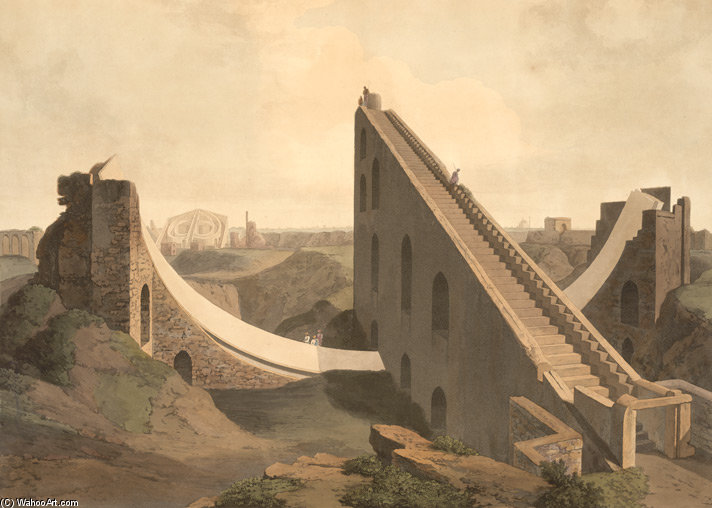 The Observatory At Delhi by Thomas And William Daniell (1769-1837, United Kingdom)