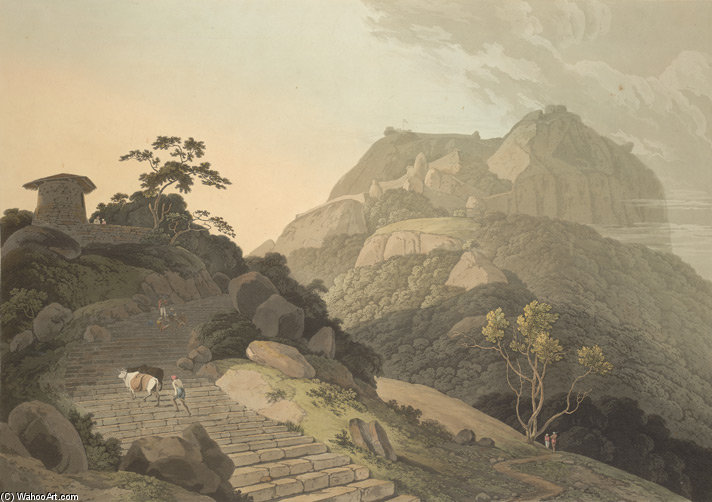 Verapadroog, In The Barramah'l by Thomas And William Daniell (1769-1837, United Kingdom)