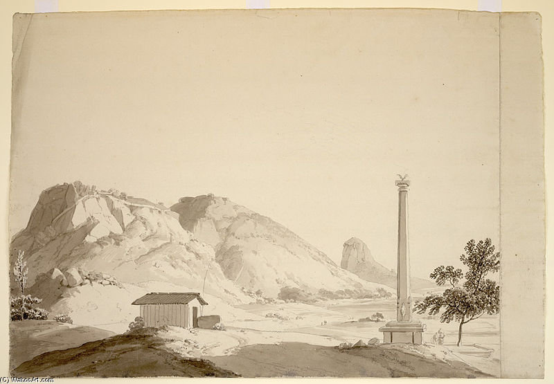 View Of Naldrug, With A Shrine And Worshipper And A Dhvajastambha by Thomas And William Daniell (1769-1837, United Kingdom)