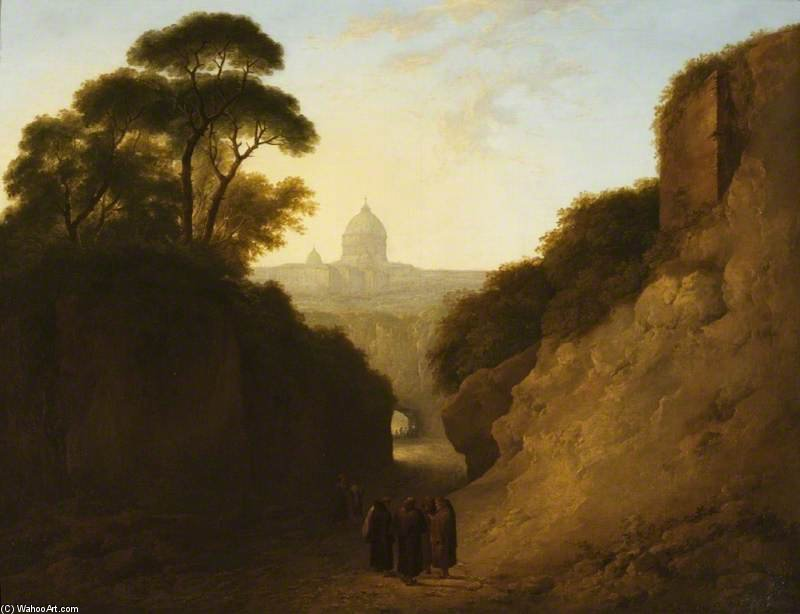 A Distant View Of Rome by Thomas Barker (1769-1847, United Kingdom)