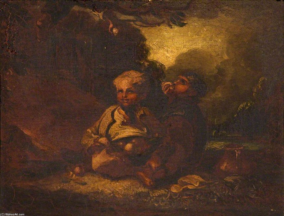 Boys Stealing Apples by Thomas Barker (1769-1847, United Kingdom)
