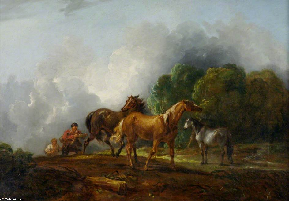 Catching Colts by Thomas Barker (1769-1847, United Kingdom)