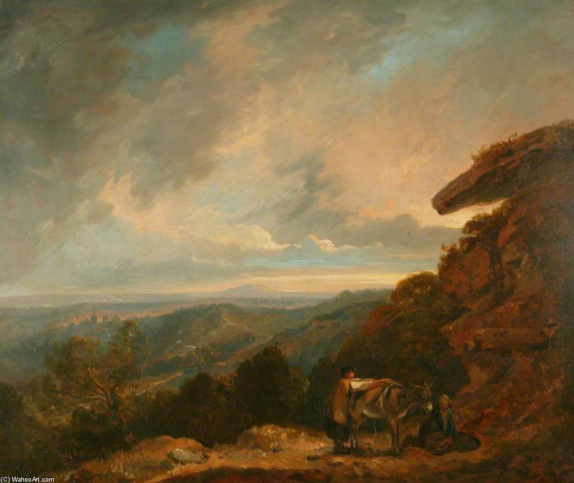 Distant View Of Malvern by Thomas Barker (1769-1847, United Kingdom)