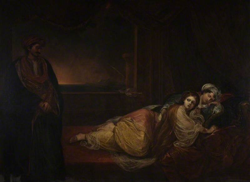Don Juan And Haidee by Thomas Barker (1769-1847, United Kingdom)
