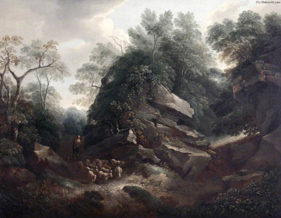 Hampton Rocks, Morning by Thomas Barker (1769-1847, United States)