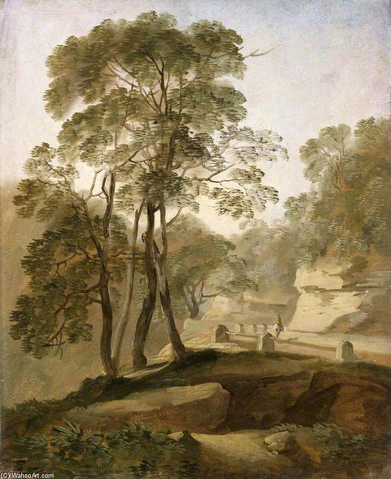 Landscape Near Tivoli by Thomas Barker (1769-1847, United Kingdom)