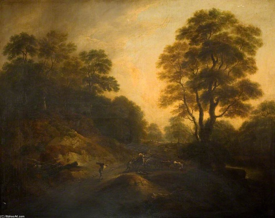 Landscape With Cattle - by Thomas Barker (1769-1847, United States)