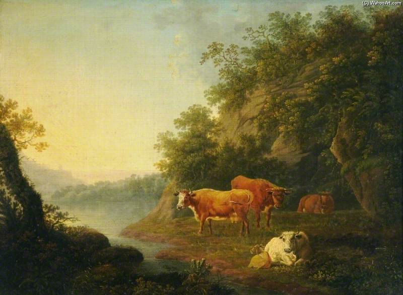 Landscape With Cattle - by Thomas Barker (1769-1847, United Kingdom)