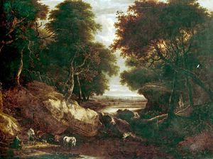 Thomas Barker - Landscape With Cattle