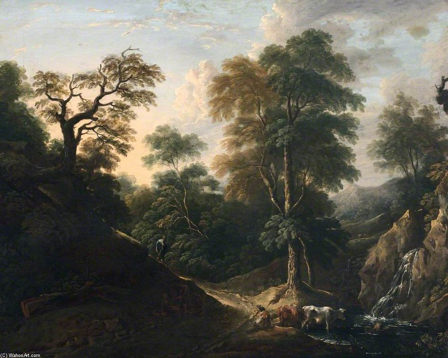 Landscape With Figures - by Thomas Barker (1769-1847, United Kingdom)