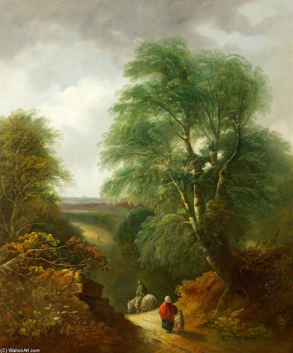 Landscape With Figures by Thomas Barker (1769-1847, United Kingdom)