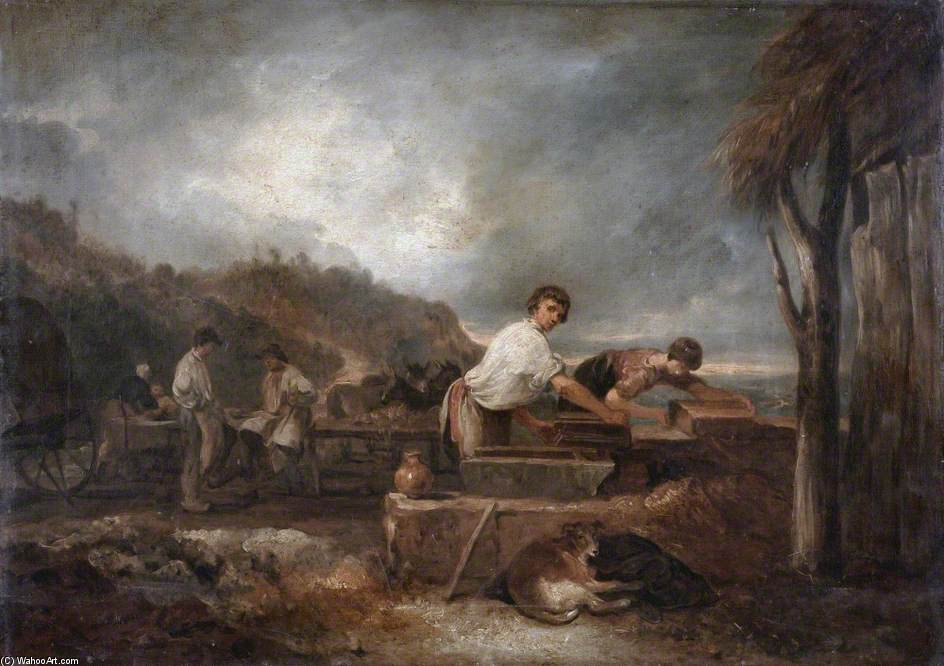 Landscape With Masons At Work by Thomas Barker (1769-1847, United Kingdom)