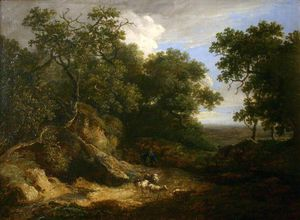 Thomas Barker - Landscape With Sheep