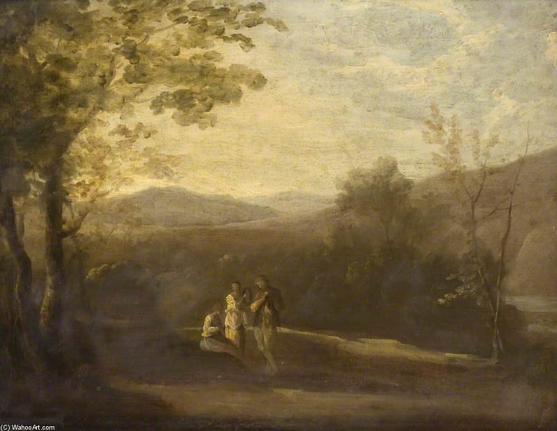 Landscape With Three Figures by Thomas Barker (1769-1847, United States)