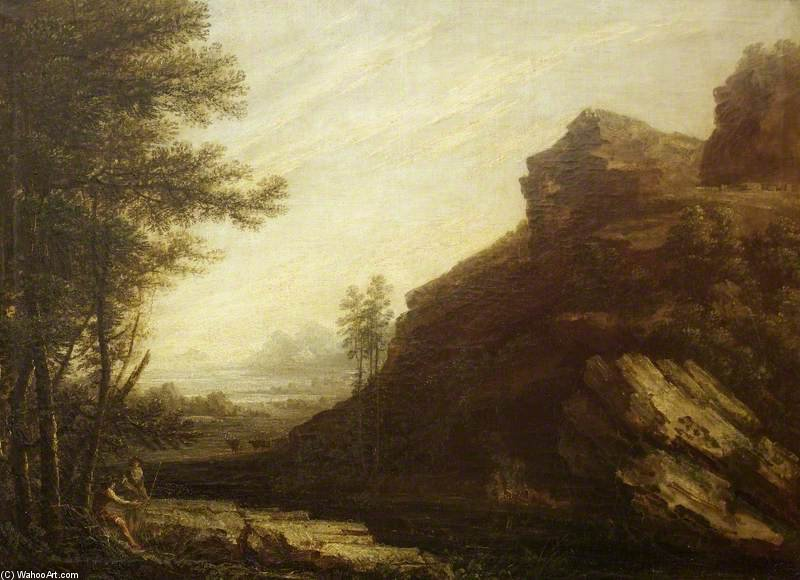 Landscape by Thomas Barker (1769-1847, United States)