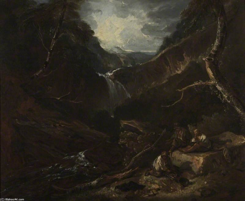 Mountain Glen And Torrent by Thomas Barker (1769-1847, United States)