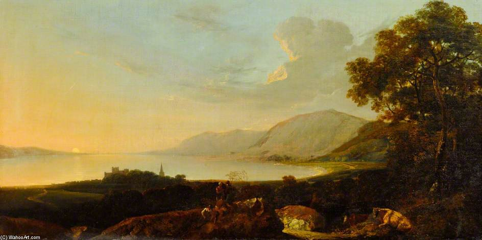 River Landscape With Figures by Thomas Barker (1769-1847, United Kingdom)