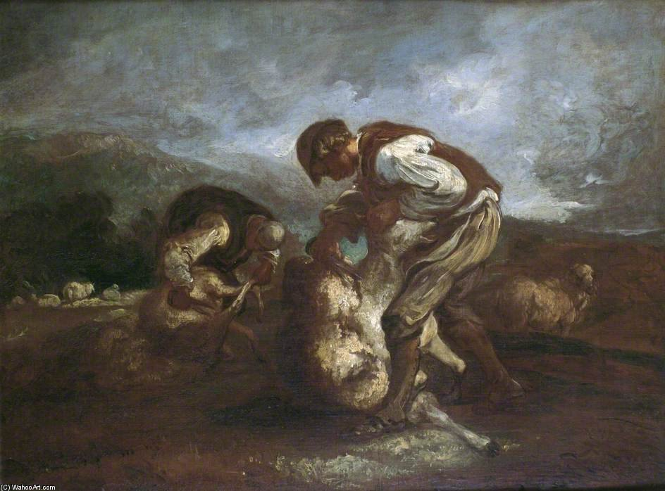 Sheep Shearing by Thomas Barker (1769-1847, United States)