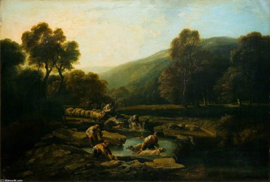 Sheep Washing by Thomas Barker (1769-1847, United Kingdom)