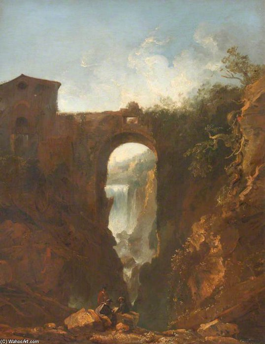 The Cascade At Tivoli by Thomas Barker (1769-1847, United Kingdom)
