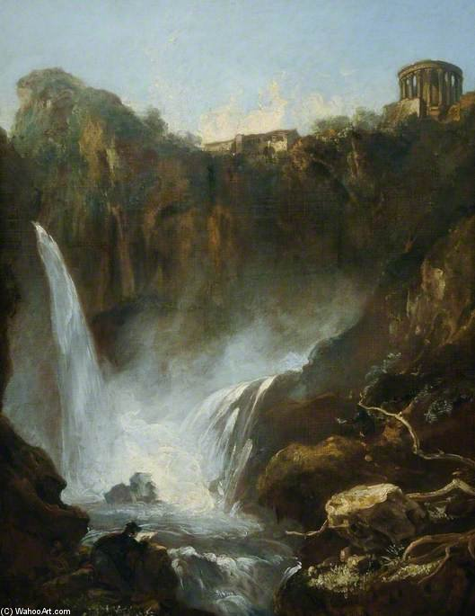The Falls Of Tivoli, Italy by Thomas Barker (1769-1847, United States)