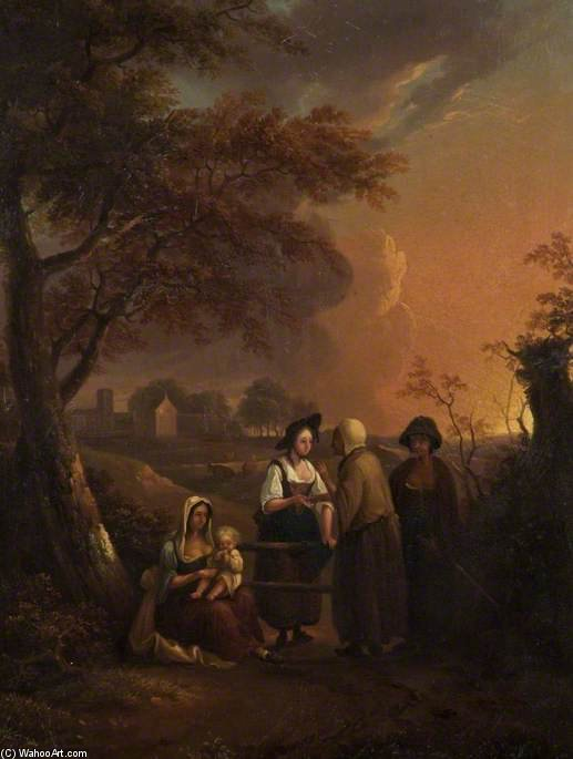 The Parson's Maid And The Gypsies by Thomas Barker (1769-1847, United Kingdom)