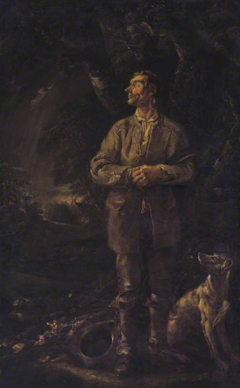 The Woodman And His Dog In A Storm by Thomas Barker (1769-1847, United Kingdom)