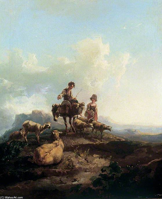 The Young Shepherds by Thomas Barker (1769-1847, United States)