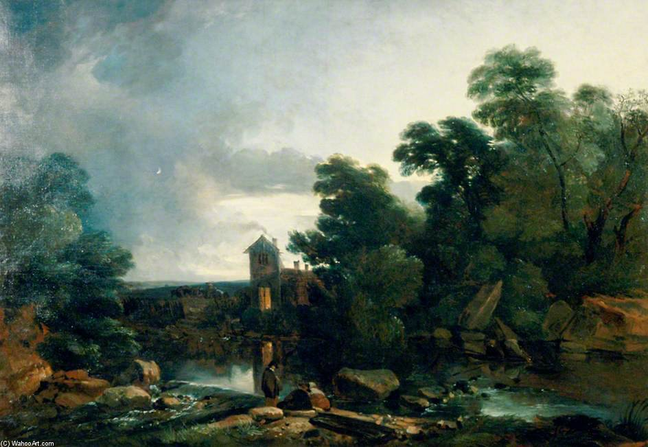 Twilight On The Dee, North Wales by Thomas Barker (1769-1847, United States)