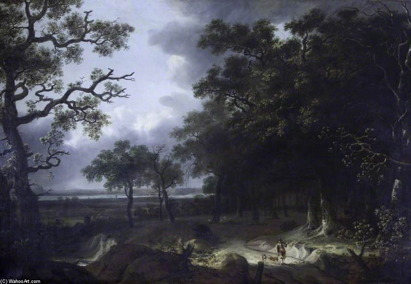 Wooded Landscape by Thomas Barker (1769-1847, United Kingdom)